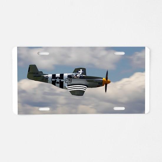 P 51 Mustang Aluminum License Plate