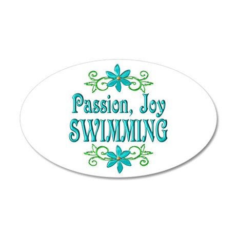 Swimming Joy 38.5 x 24.5 Oval Wall Peel