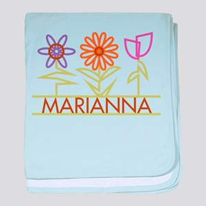Marianna with cute flowers baby blanket