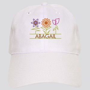 Abagail with cute flowers Cap