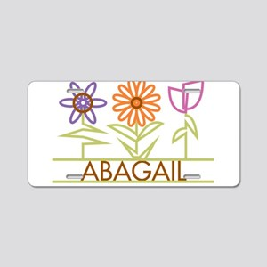 Abagail with cute flowers Aluminum License Plate