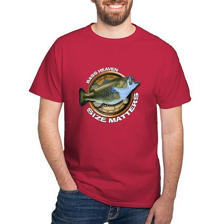 Dark Size Matters Bass Fishing T-Shirt