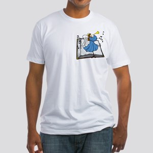 Angel and Book Fitted T-Shirt