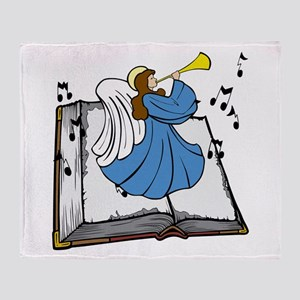 Angel and Book Throw Blanket