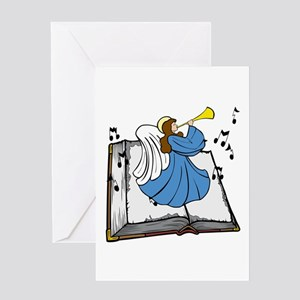 Angel and Book Greeting Card