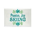 Skiing Joy Rectangle Magnet (100 pack)