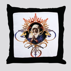 Pray the Rosary Throw Pillow