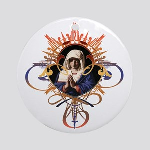 Pray the Rosary Ornament (Round)
