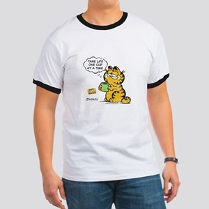 One Cup at a Time Vintage Garfield Ringer T