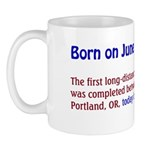 Mug: First long-distance power transmission line w