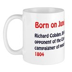 Mug: Richard Cobden, British liberal statesman, op