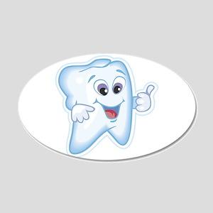 Great Job Dentists Dental 22x14 Oval Wall Peel