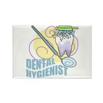 Cute Dental Hygienists Rectangle Magnet (100 pack)
