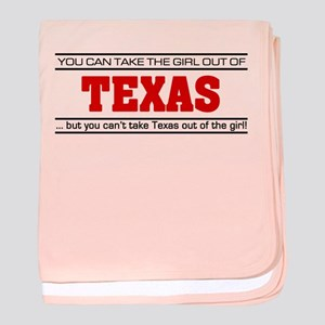 'Girl From Texas' baby blanket