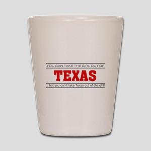 'Girl From Texas' Shot Glass