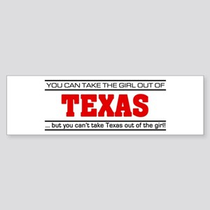 'Girl From Texas' Sticker (Bumper)