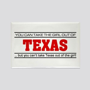 'Girl From Texas' Rectangle Magnet