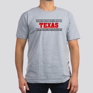 'Girl From Texas' Men's Fitted T-Shirt (dark)