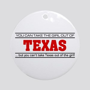 'Girl From Texas' Ornament (Round)