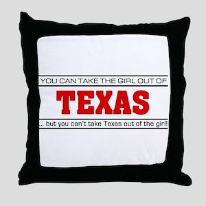 'Girl From Texas' Throw Pillow