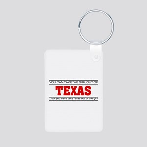 'Girl From Texas' Aluminum Photo Keychain