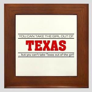 'Girl From Texas' Framed Tile