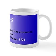 Mug: Adam Smith, Scottish laissez-faire economist,
