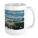 St. Marys Falls Canal From Tower Large Mugs