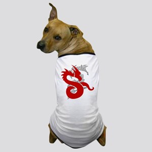 Dragon in Red Dog T-Shirt