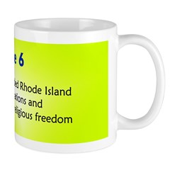 Mug: Roger Williams founded Rhode Island and Provi