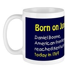 Mug: Daniel Boone, American frontiersman and trail