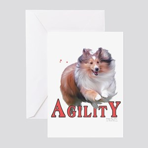 Sheltie Agility Greeting Cards (Pk of 10)