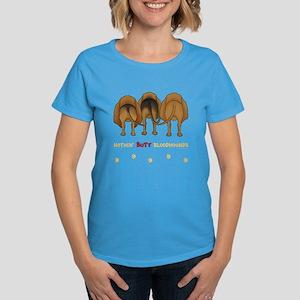 Nothin' Butt Bloodhounds Women's Dark T-Shirt
