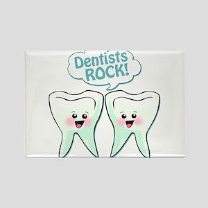 Funny Dentists Rock Rectangle Magnet