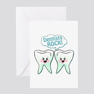 Funny Dentists Rock Greeting Card