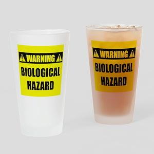 WARNING: Biological Hazard Drinking Glass