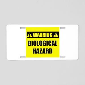 WARNING: Biological Hazard Aluminum License Plate