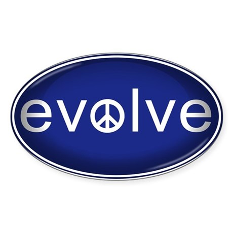 Evolve with Peace - Sticker (Oval)