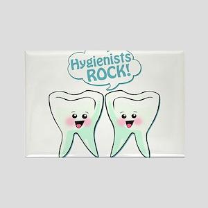 Funny Hygienists Rock Rectangle Magnet