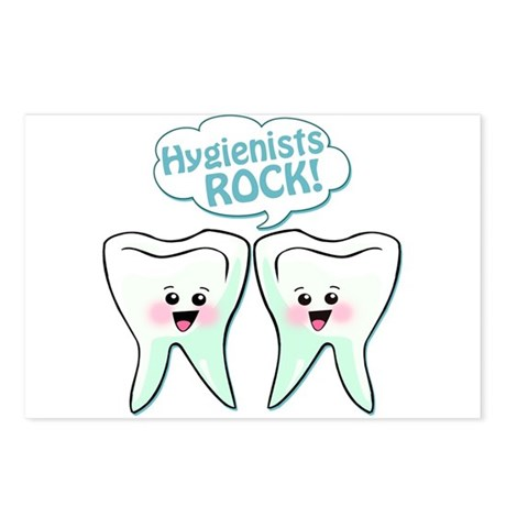 Funny Hygienists Rock Postcards (Package of 8)