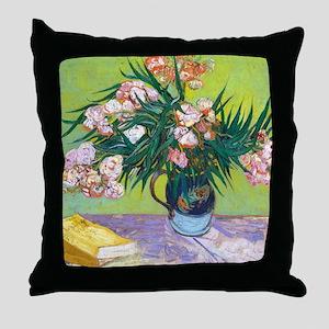 Van Gogh Oleanders Throw Pillow