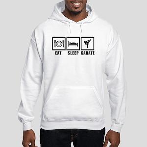 Eat Sleep Karate Hooded Sweatshirt