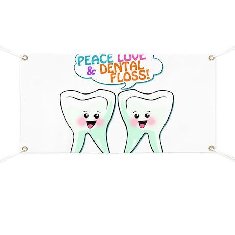 Peace Love Dental Floss Banner
