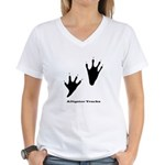 Alligator Tracks Women's V-Neck T-Shirt