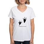 Alligator Tracks Women's V-Neck T-Shirt