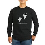 Alligator Tracks Long Sleeve Dark T-Shirt
