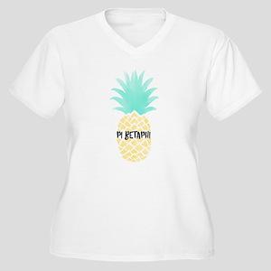 Pi Beta Phi Pinea Women's Plus Size V-Neck T-Shirt