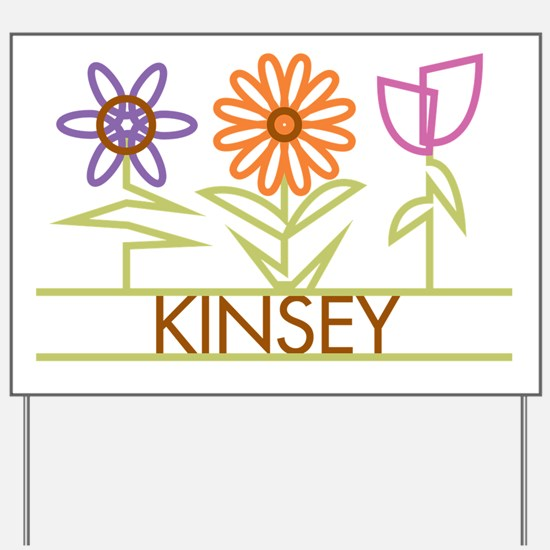 Kinsey with cute flowers Yard Sign