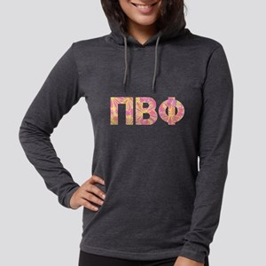 Pi Beta Phi Pink Floral Let Womens Hooded T-Shirts