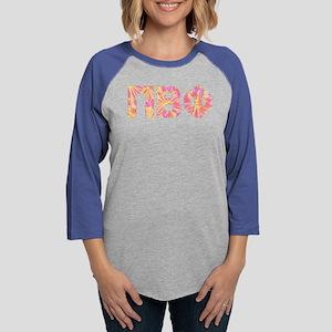 Pi Beta Phi Pink Floral Le Womens Baseball T-Shirt